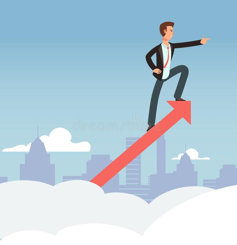 Beginnen des Geschäftsvektor-Wachstumskonzeptes Neuer Gelegenheits- und Geschäftsvisionshintergrund lizenzfreie abbildung