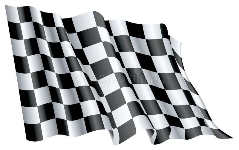 Beginnen Sie Flagge lizenzfreie abbildung