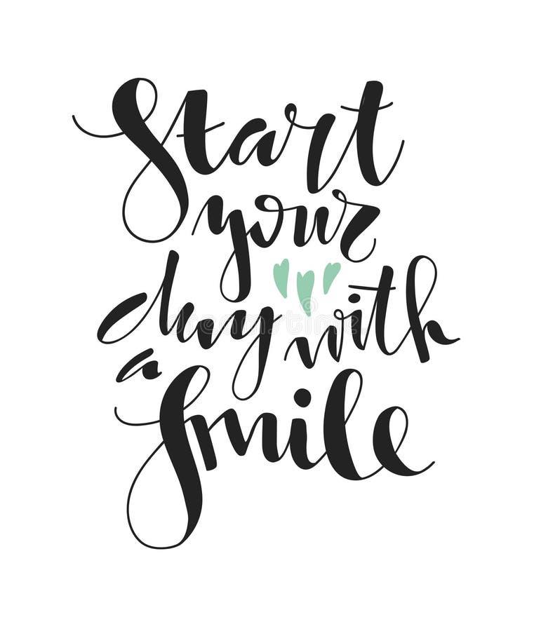 Beginnen Sie Ihr Tag mit einem Lächeln vektor abbildung