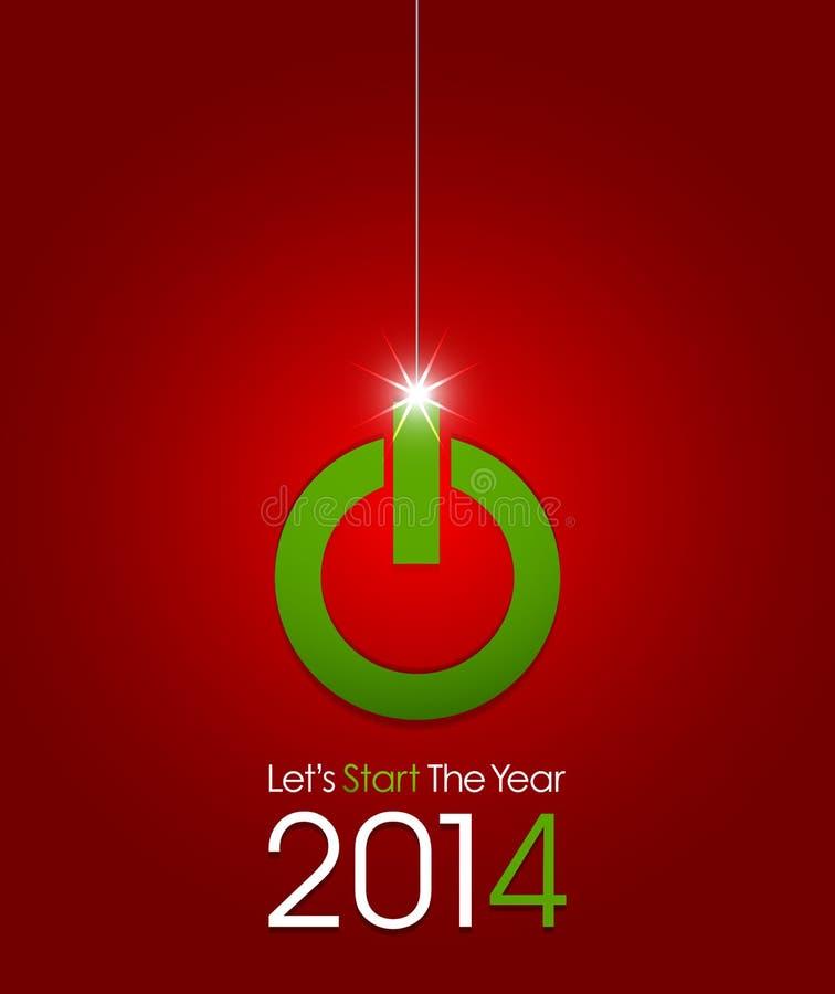 Beginnen Sie neues Jahr 2014 lizenzfreie abbildung