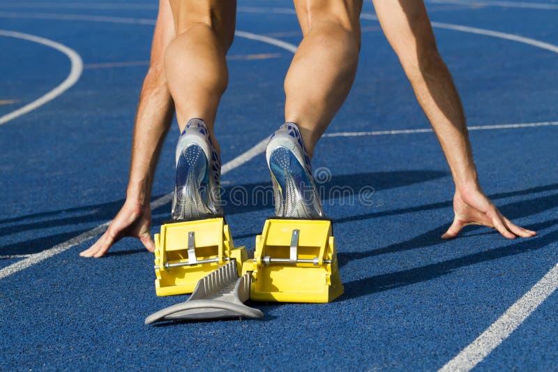 Beginnende sprinter stock fotografie