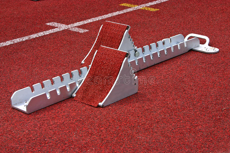 Beginnender Block athletisch stockfoto