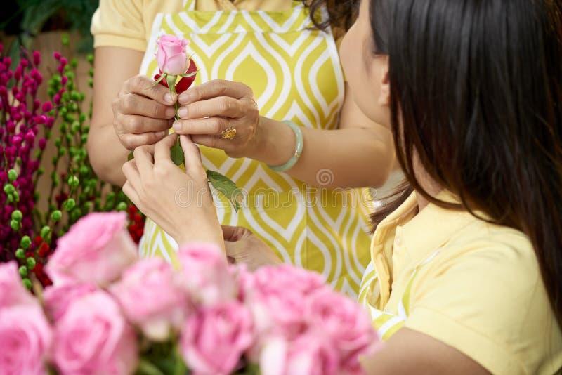 Attending florist workshop stock photos