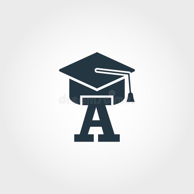 Beginner icon. Premium monochrome design from education icon collection. Creative beginner icon for web design and printing usage. Beginner icon. Premium royalty free illustration