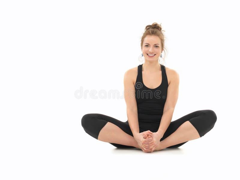 Beginner joga praktyka fotografia royalty free