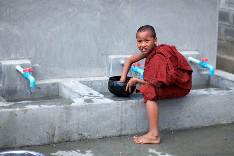 Beginnermonnik, Myanmar stock fotografie