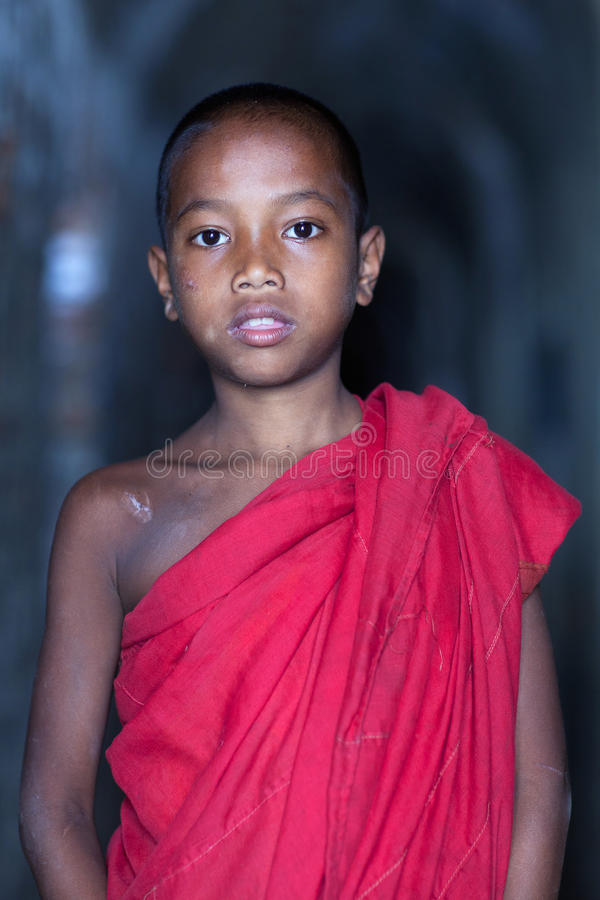Beginnermonnik, Myanmar royalty-vrije stock afbeeldingen