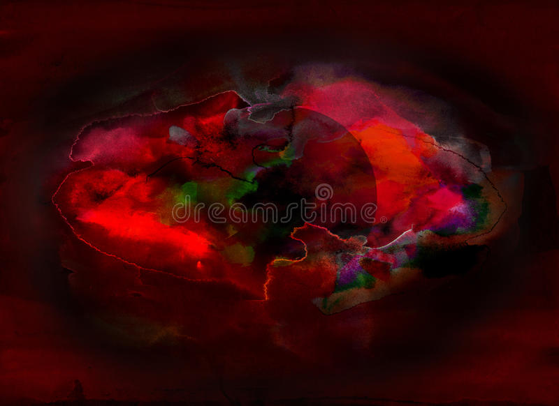 At the beginning. Abstract composition - mixed media vector illustration