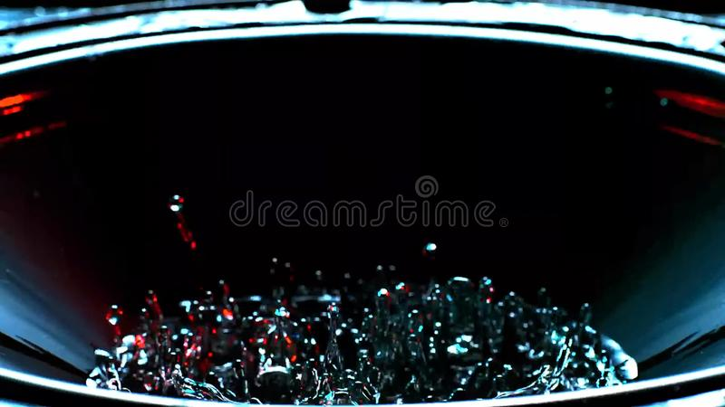 The beginning of the water dance to the music. The beginning of the dance of water to the music, as if the water begins to boil royalty free stock photo