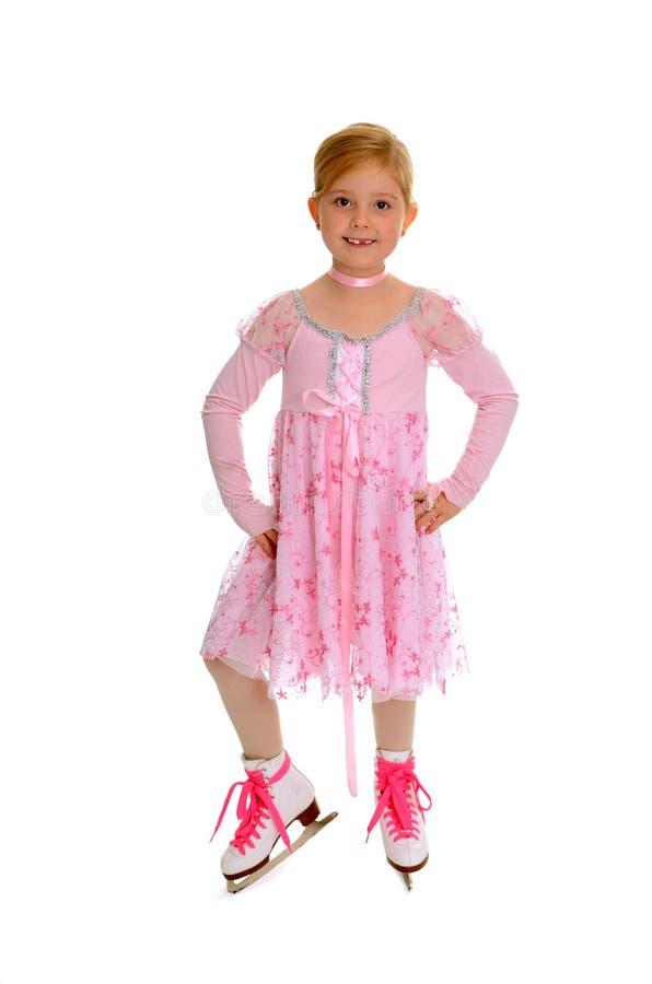 Download Beginning Figure Skater In Pink Stock Image - Image: 21381151