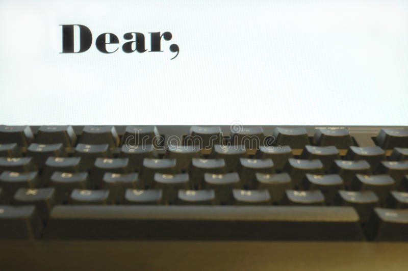 Download Beginning Of The Letter Royalty Free Stock Photos - Image: 12854678