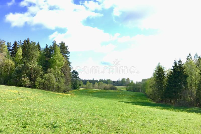 Latgalian landscape. Latvia. stock photos