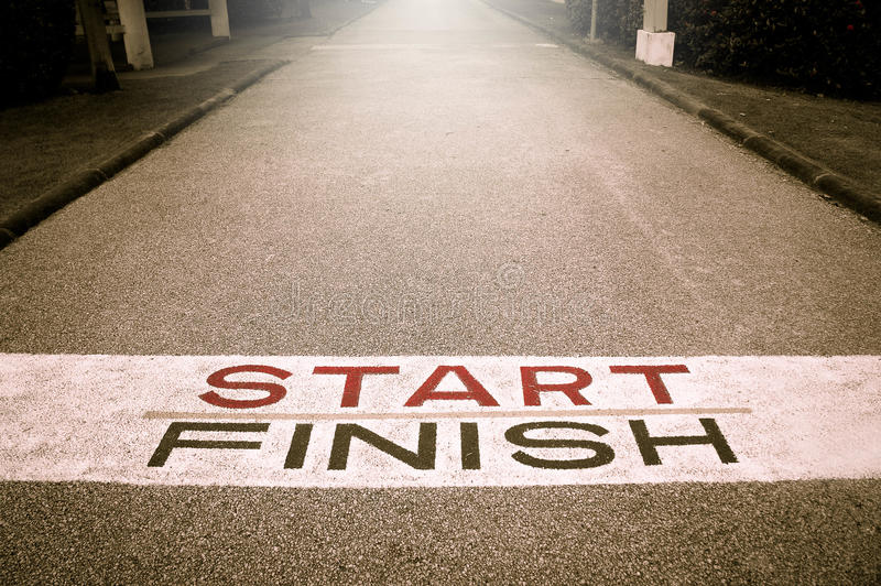 Beginning road of Victory Path , Start of the Victory Line , The royalty free stock image
