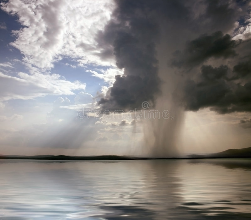 Beginning of the storm royalty free stock images