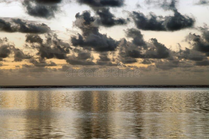 Beginning of sunrise stock image