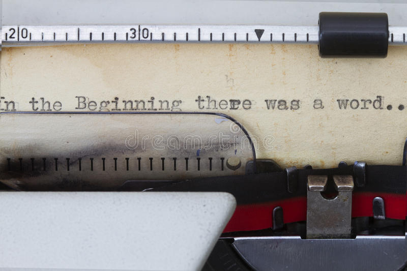 In the beginning. There was a word- first word in the bible stock photos