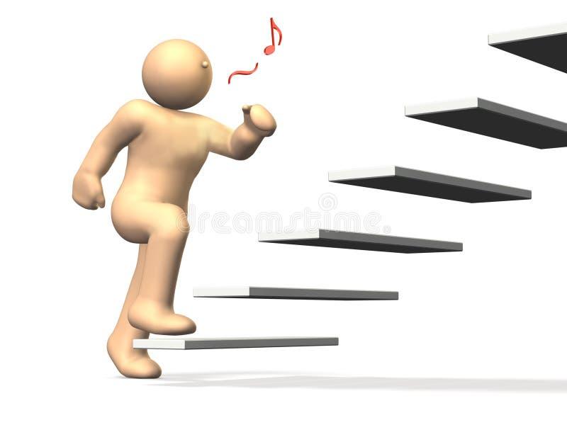 Download Beginning to climb stock illustration. Illustration of concepts - 24395186