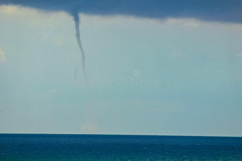a beginning tornado in the sky royalty free stock images