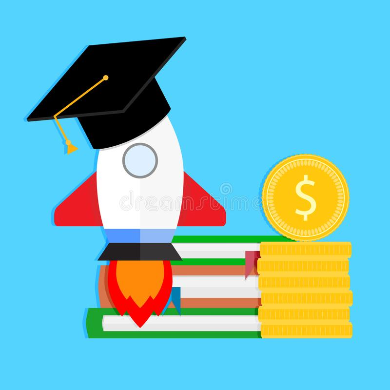 Beginnstudie in der Universität stock abbildung