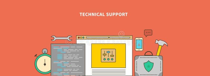 Begleiten des Produktes Technischer Support stock abbildung