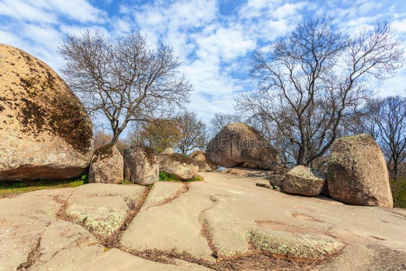 Beglik tash -古老巨石Thracian圣所 库存照片