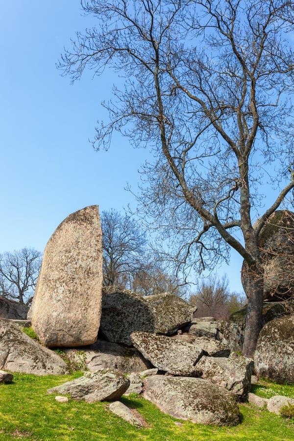 Beglik tash -古老巨石Thracian圣所 图库摄影