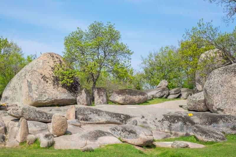 Beglik Tash - formation de roche de nature, un sanctuaire préhistorique de roche image libre de droits