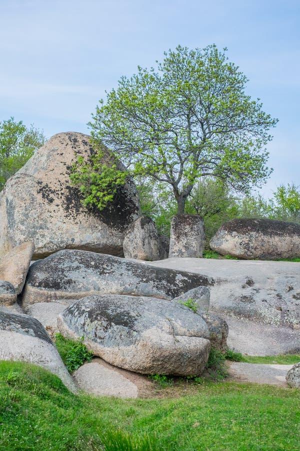 Beglik Tash - formation de roche de nature, un sanctuaire préhistorique de roche images libres de droits