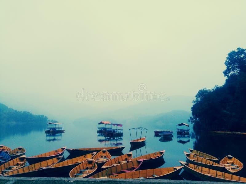Begnas lake pokhara stock photography