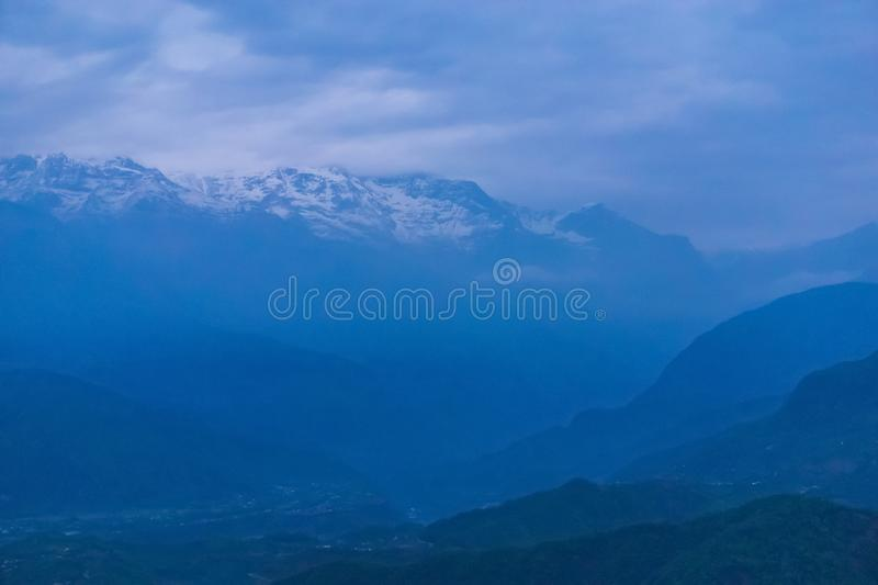 Begnas Tal, Nepal with the Annapurna Himalaya visible in the background royalty free stock photo