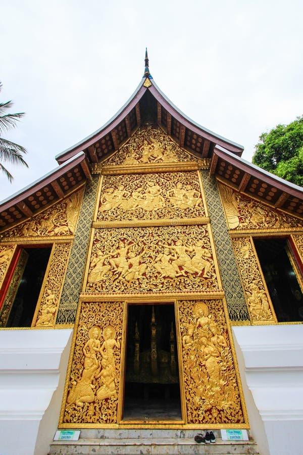 Begräbnis- Kapelle bei Wat Xieng Thong lizenzfreies stockbild