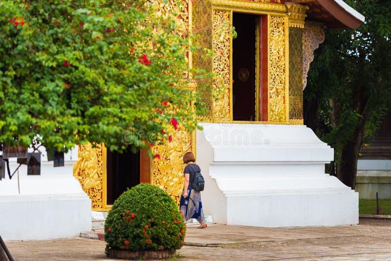 Begräbnis- Kapelle von Wat Xieng Thong, Louangphabang, Laos Kopieren Sie Raum für Text lizenzfreies stockbild