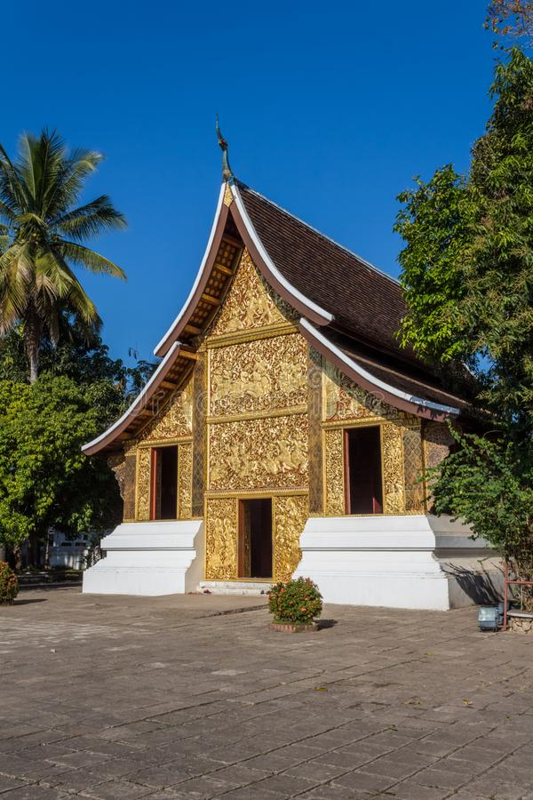 Begräbnis- Kapelle von Wat Xieng Thong in Luang Prabang, Laos lizenzfreies stockbild