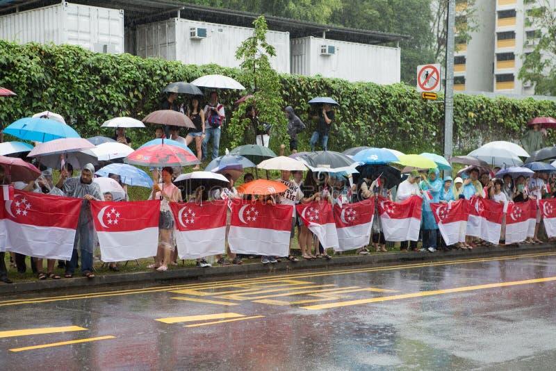 Begräbnis von Lee Kuan Yew Singapore stockfoto