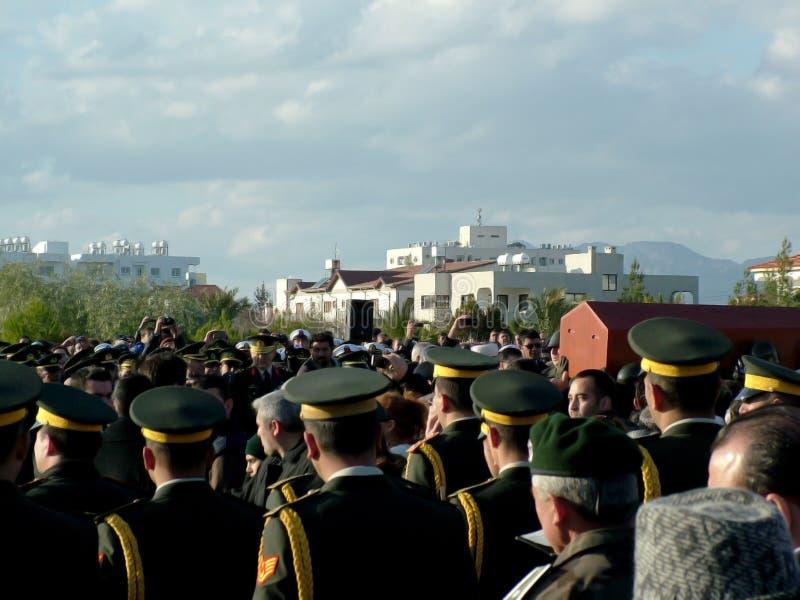 Begräbnis- Zeremonie Von Rauf Denktas Redaktionelles Stockfotografie