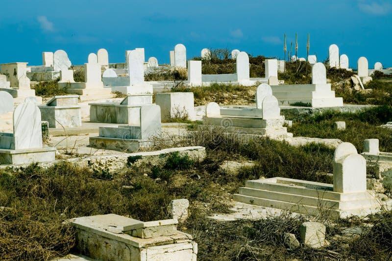 Begraafplaats bij de heuvel stock foto