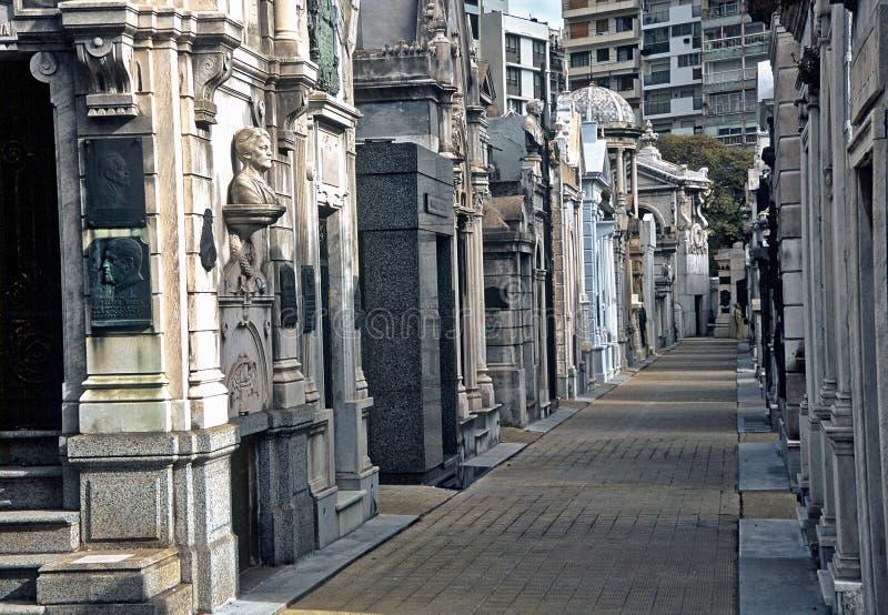 Begraafplaats in Buenos aires, Argentinië stock afbeelding