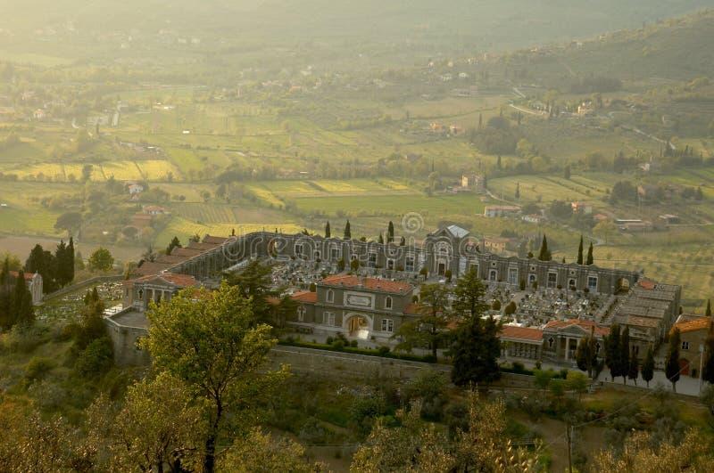 Begraafplaats in Cortona, Italië royalty-vrije stock foto's