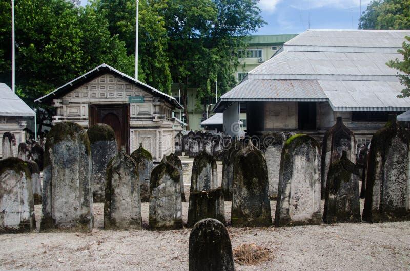 Begraafplaats in de Maldiven royalty-vrije stock foto