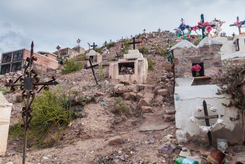 Begraafplaats in dorp Maimara royalty-vrije stock fotografie
