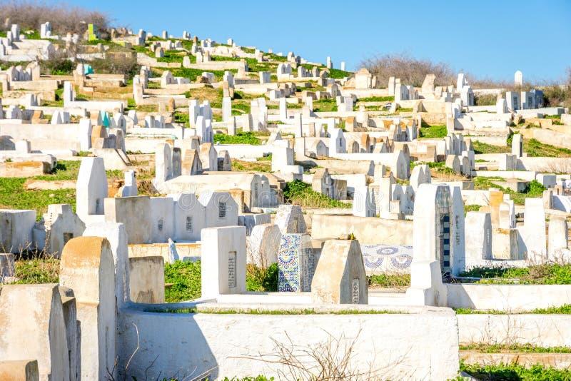 Begraafplaats in Fez, Marokko stock afbeelding