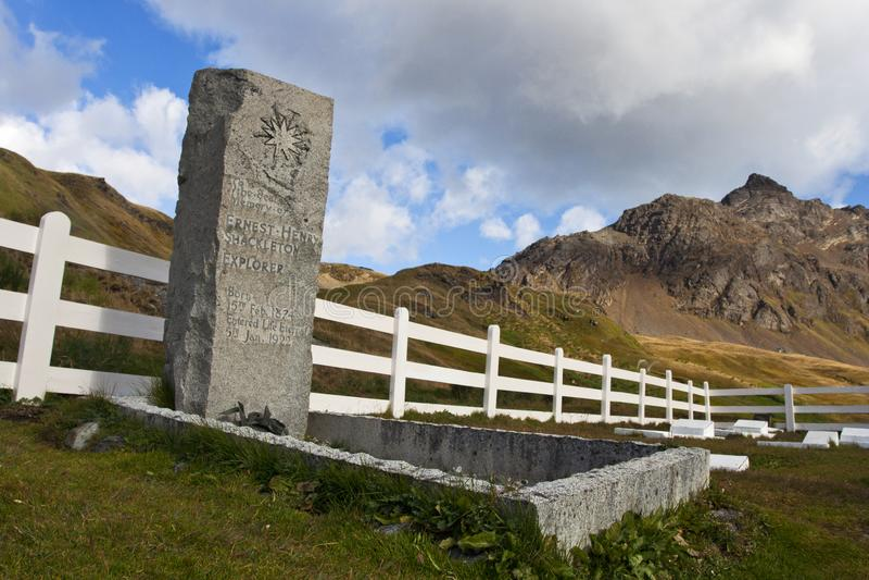 Begraafplaats Grytviken Zuid乔治亚,坟园南的Grytviken 图库摄影