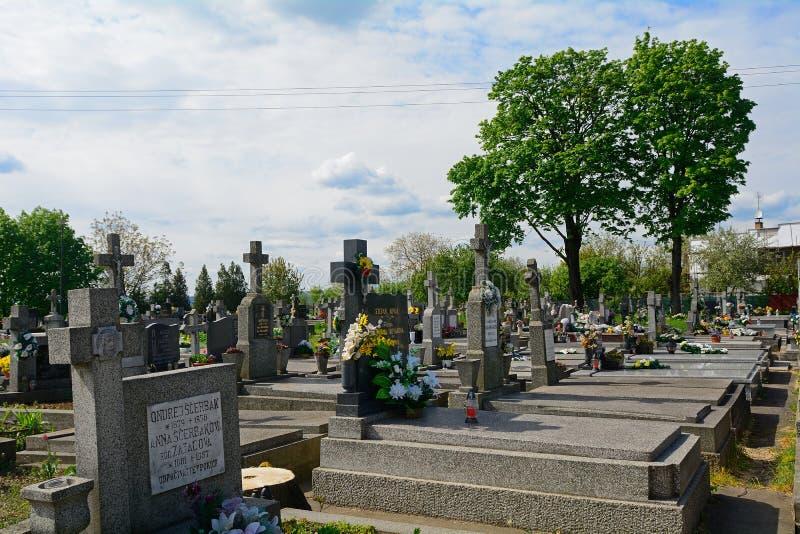 Begraafplaats, Haniska, Slowakije stock foto