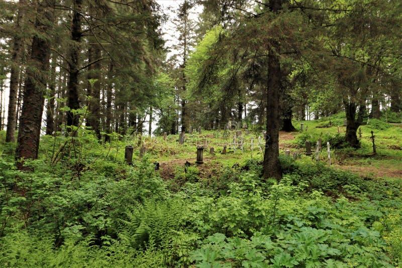 Begraafplaats in Sitka, Alaska royalty-vrije stock foto's