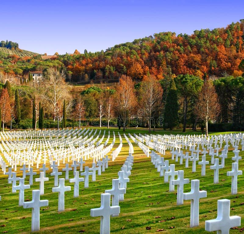 Begraafplaats van de Amerikanen in Florence stock fotografie