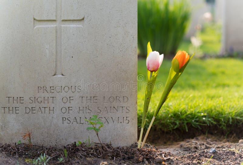 Begraafplaats van de Holten de Canadese oorlog stock afbeelding