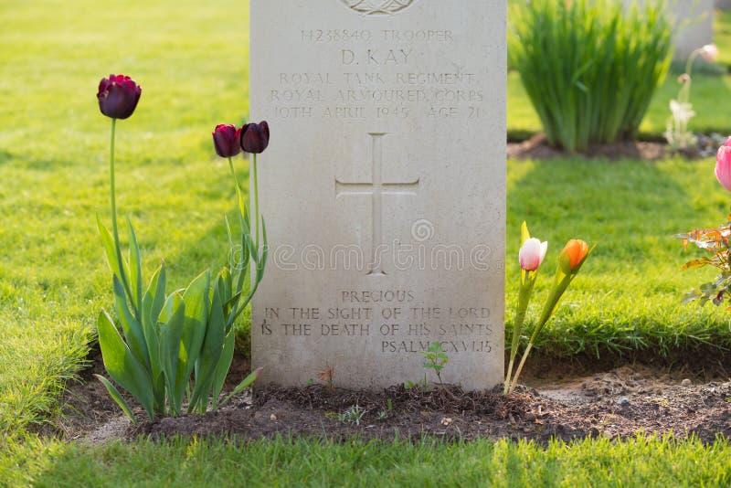 Begraafplaats van de Holten de Canadese oorlog stock fotografie