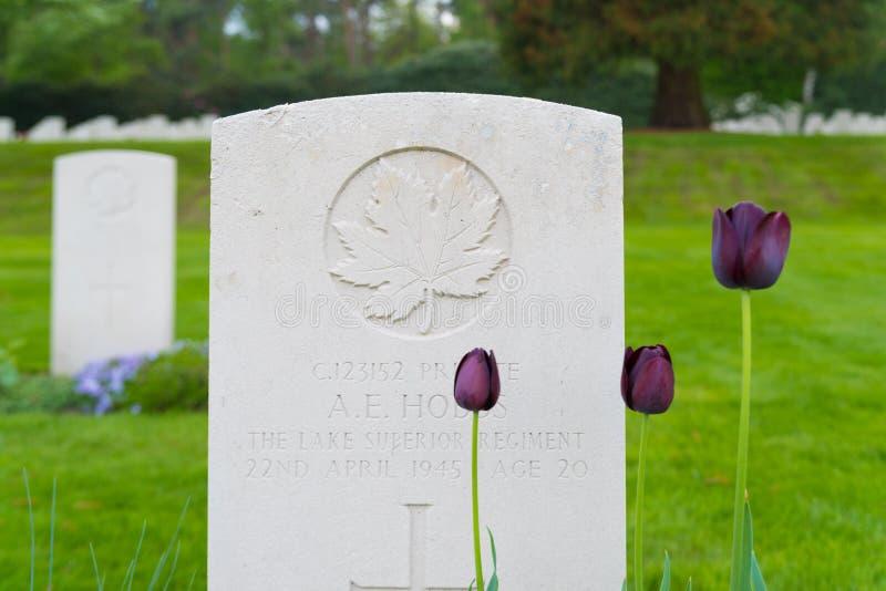 Begraafplaats van de Holten de Canadese oorlog royalty-vrije stock foto's