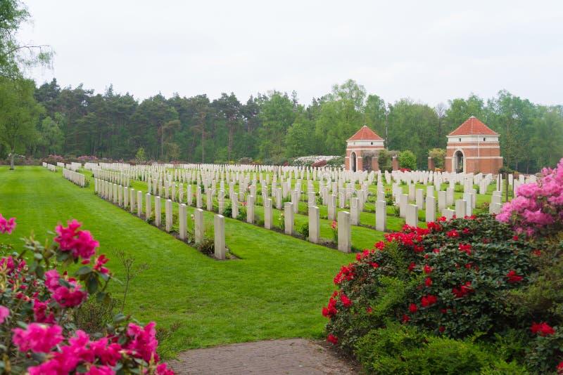 Begraafplaats van de Holten de Canadese oorlog royalty-vrije stock afbeeldingen