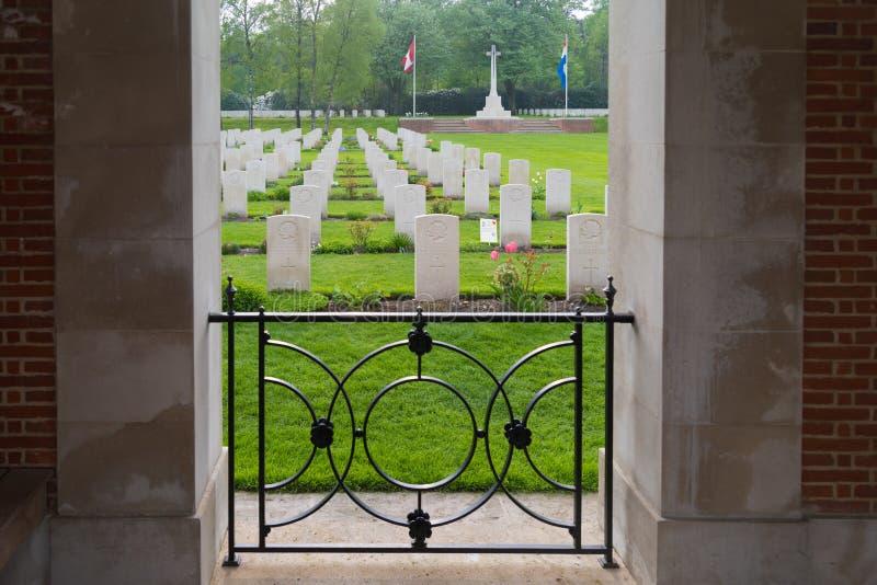 Begraafplaats van de Holten de Canadese oorlog stock foto
